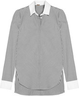 ADAM by Adam Lippes Striped Cotton-poplin Shirt - Black