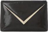 Dune Behan V-trim houndstooth envelope clutch