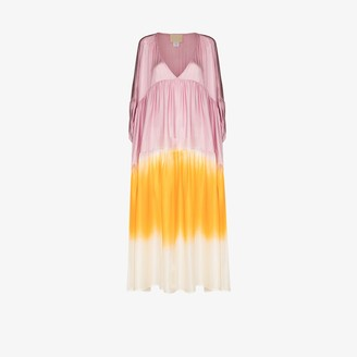 Anaak Airi dipped tie-dye silk dress