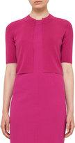 Akris Punto Half-Sleeve Cropped Cardigan, Pink