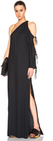 Rosetta Getty Crepe Sable One Sleeve Cutout Gown