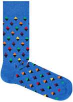 Happy Socks NEW Mini Diamond Blue
