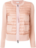 Moncler Dawn and knit cardigan - women - Polyamide/Virgin Wool/Feather/Goose Down - S