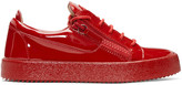 Giuseppe Zanotti Red Patent Leather London Sneakers