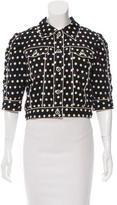 Anna Sui Polka Dot Embroidered Cropped Jacket