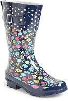 Western Chief Navy Floral Rain Boot