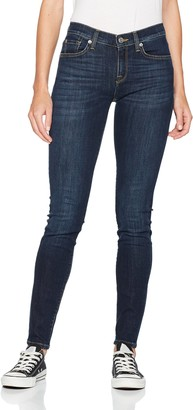 Selected Women's Sfelena Mid Rise Skin Night Noos Skinny Jeans