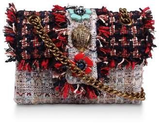 Kurt Geiger Womens London Red Tweed Mini Kensington X Fabric Bag - Red
