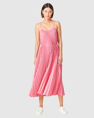 French Connection Women's Dresses - Pleated Midi Dress - Size One Size, 14 at The Iconic