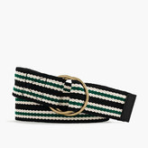 J.Crew Striped wide belt