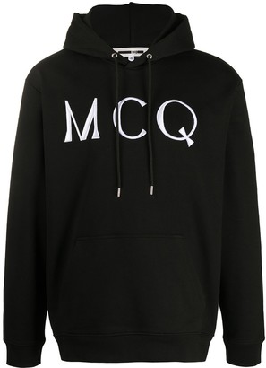 McQ Swallow Logo Embroidered Hoodie