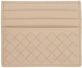 Bottega Veneta SSENSE Exclusive Beige Intrecciato Card Holder
