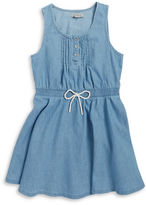Calvin Klein Jeans Girls 2-6x Pin-Tucked Chambray Dress
