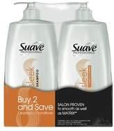 Suave Professionals Sleek Shampoo and Conditioner 28oz,pk of 2
