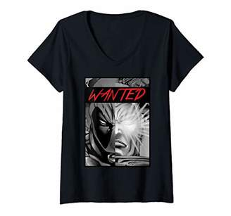 Marvel Womens Deadpool Cable Split Poster V-Neck T-Shirt