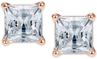 Swarovski Rose Gold-Tone Cubic Zirconia Square Stud Earrings