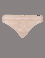 Autograph Dentelle Lace Low Rise Thong