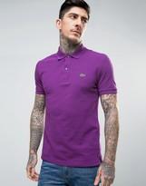Lacoste Slim Fit Pique Polo In Purple