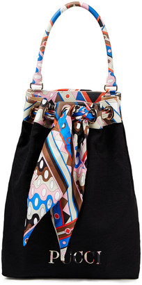 Emilio Pucci Leather-trimmed Twill Tote