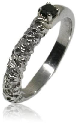 Black Diamond Karolina Bik Jewellery Rock Ring In White Gold With