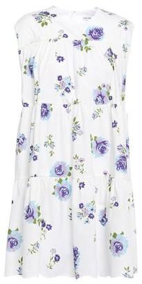 Les Rêveries Gathered Floral-print Cotton-poplin Mini Dress