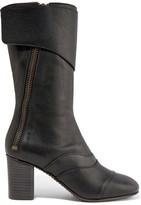 Chloé Paneled Leather Boots - Black
