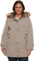 Gallery Plus Size Hooded Stadium Jacket