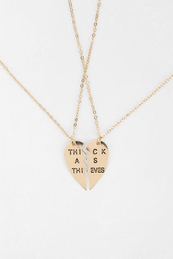 Urban Outfitters Besties Necklace - Set Of 2