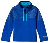 Poivre Blanc Blue Embroidered 1/2 Zip Polar Fleece Jacket