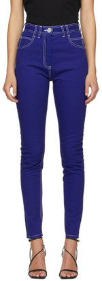 Balmain Blue High-Waist Jeans