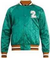 Valentino Logo-appliqué quilted satin bomber jacket