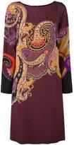 Etro paisley print shift dress - women - Silk/Spandex/Elastane - 38