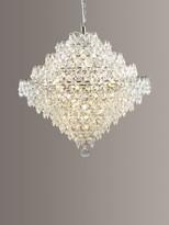 Impex Diamond Lead Chandelier Ceiling Light, Clear/Chrome