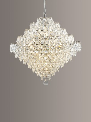 Impex Diamond Lead Chandelier Ceiling Light, Clear/Chrome