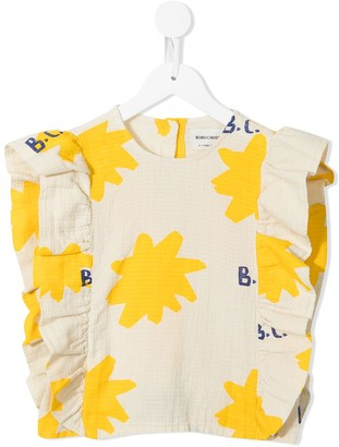 Bobo Choses Sparkle print ruffled top