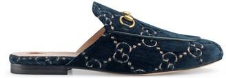 Gucci Princetown GG velvet slipper