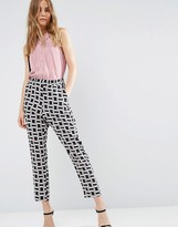 Asos Cigarette Pants In Geo Print