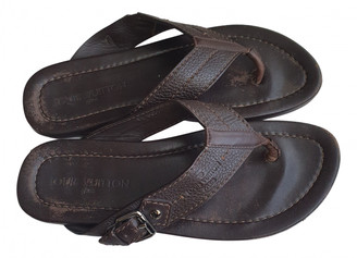 Louis Vuitton Molitor Brown Leather Sandals