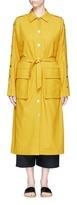 Tibi Belted split sleeve twill trench coat