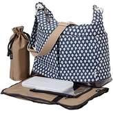 OiOi Hobo Diaper Bag - 2 Pocket Monaco Navy Mini Geo by