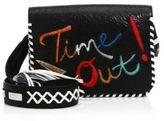 Alice + Olivia Kendal Embroidered Leather Shoulder Bag