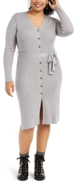 Planet Gold Trendy Plus Size Cardigan Dress