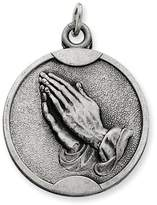 1928 Gold and Watches Sterling Silver Antiqued Praying Hands Pendant