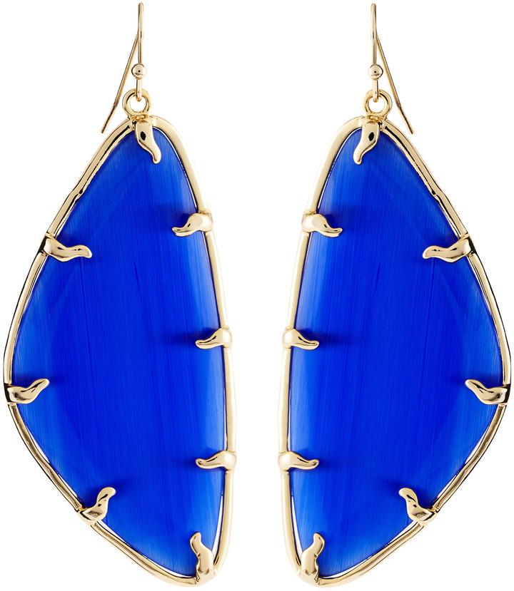 Kendra Scott Willow Cobalt Catseye Earrings