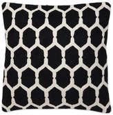 Eichholtz Cirrus Cushion Black Wool Cotton 50x50cm