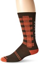 Wigwam Men's Buffalo Squared Plaid Pattern Heritage Casual Crew Sock