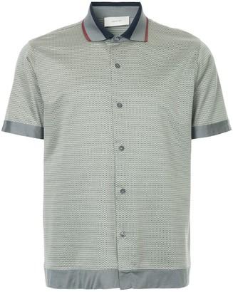 Cerruti Jacquard-Knit Polo Shirt
