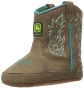 John Deere Bab Dis W/Turq Stitch PO Pull-On Boot