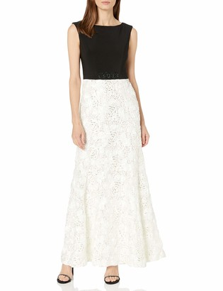 Alex Evenings Women's Long Embellished Waist Dress