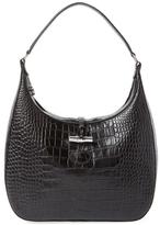 Longchamp Roseau Embossed Leather Medium Hobo